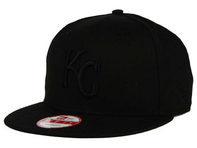 Kansas City Royals New Era MLB Black on Black 9FIFTY Snapback Cap