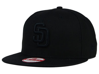 San Diego Padres New Era MLB Black on Black 9FIFTY Snapback Cap