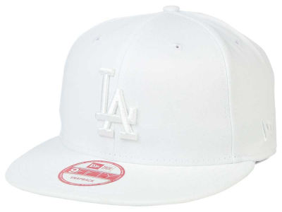 Los Angeles Dodgers New Era MLB White on White 9FIFTY Snapback Cap
