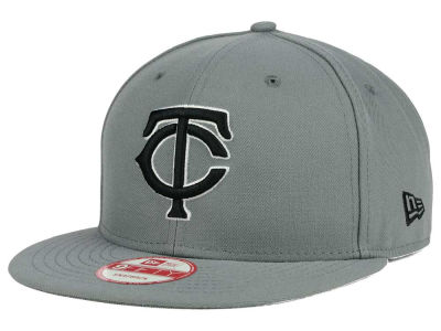 Minnesota Twins New Era MLB Gray Black White 9FIFTY Snapback Cap