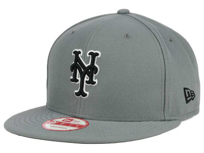 New York Mets New Era MLB Gray Black White 9FIFTY Snapback Cap