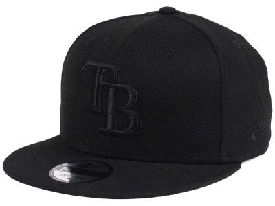 Tampa Bay Rays New Era MLB Black on Black 9FIFTY Snapback Cap
