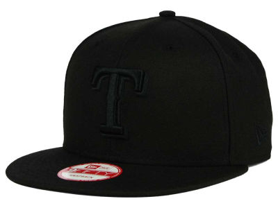 Texas Rangers New Era MLB Black on Black 9FIFTY Snapback Cap