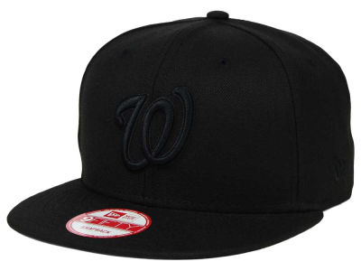 Washington Nationals New Era MLB Black on Black 9FIFTY Snapback Cap