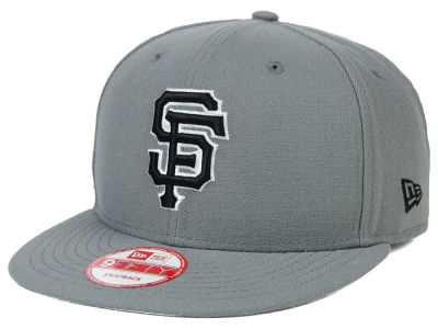 San Francisco Giants New Era MLB Gray Black White 9FIFTY Snapback Cap