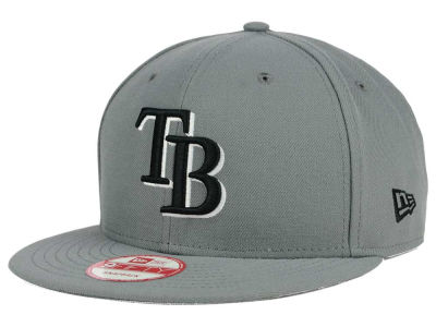 Tampa Bay Rays New Era MLB Gray Black White 9FIFTY Snapback Cap