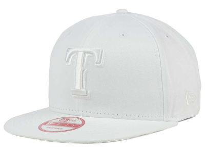 Texas Rangers New Era MLB White on White 9FIFTY Snapback Cap
