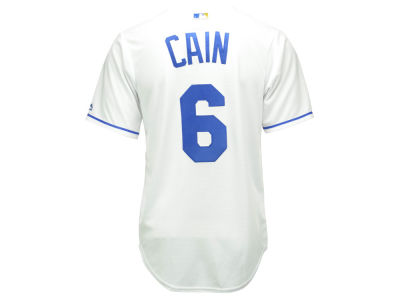Kansas City Royals Lorenzo Cain Majestic MLB Men's Player Replica CB Jersey
