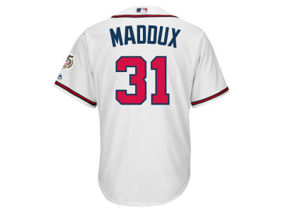Atlanta Braves Greg Maddux Majestic MLB Men's Cooperstown Player Replica CB Jersey