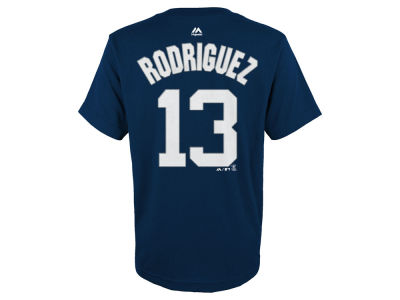 New York Yankees Alex Rodriguez Majestic MLB Youth Official Player T-Shirt