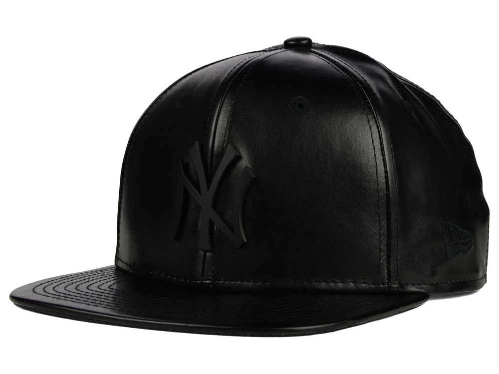 002059ee7ef New York Yankees New Era MLB Leather Metal 9FIFTY Strapback Cap ...