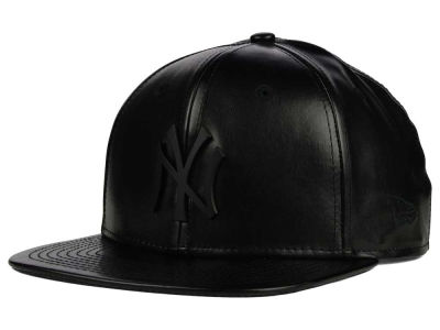 New York Yankees New Era MLB Leather Metal 9FIFTY Strapback Cap
