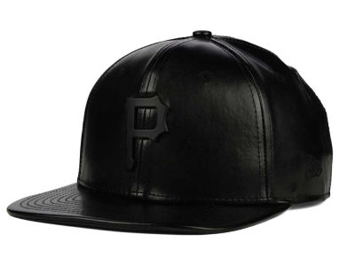 Pittsburgh Pirates New Era MLB Leather Metal 9FIFTY Strapback Cap