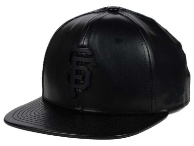 San Francisco Giants New Era MLB Leather Metal 9FIFTY Strapback Cap