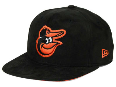 Baltimore Orioles New Era MLB Suede Collection 9FIFTY Strapback Cap