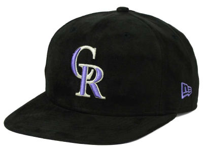 Colorado Rockies New Era MLB Suede Collection 9FIFTY Strapback Cap