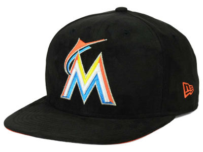 Miami Marlins New Era MLB Suede Collection 9FIFTY Strapback Cap