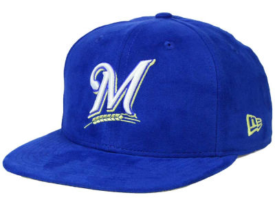 Milwaukee Brewers New Era MLB Suede Collection 9FIFTY Strapback Cap