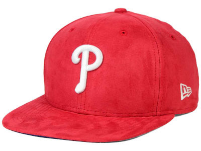 Philadelphia Phillies New Era MLB Suede Collection 9FIFTY Strapback Cap