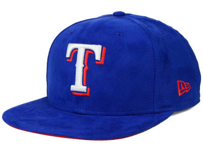 Texas Rangers New Era MLB Suede Collection 9FIFTY Strapback Cap