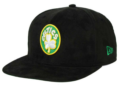 Boston Celtics New Era NBA HWC Suede Collection 9FIFTY Strapback Cap