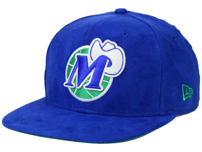 Dallas Mavericks New Era NBA HWC Suede Collection 9FIFTY Strapback Cap