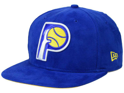Indiana Pacers New Era NBA HWC Suede Collection 9FIFTY Strapback Cap