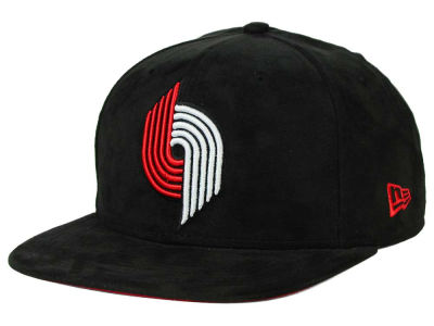 Portland Trail Blazers New Era NBA HWC Suede Collection 9FIFTY Strapback Cap