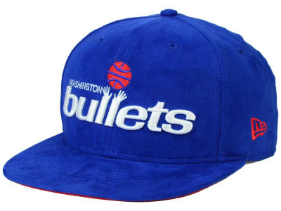 Washington Bullets New Era NBA HWC Suede Collection 9FIFTY Strapback Cap