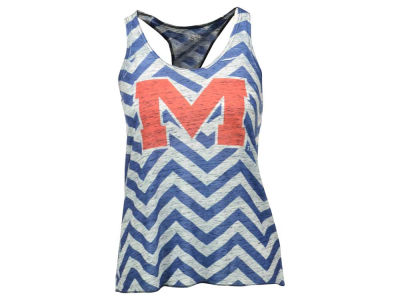 Ole Miss Rebels Blue 84 NCAA Women's Confetti Racer Back Tank