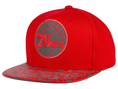 Philadelphia 76ers Mitchell and Ness NBA Digi Reflective Snapback Cap