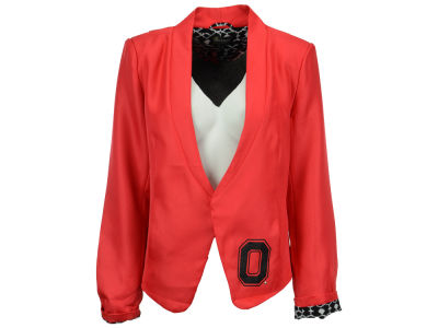 Ohio State Buckeyes NCAA Women's Ikat Lined Blazer Jacket