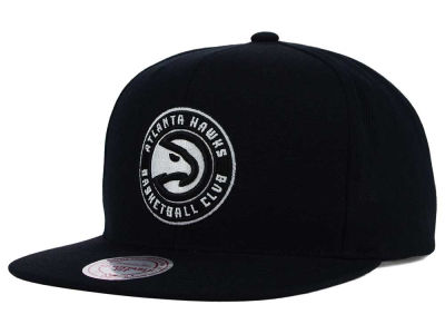 Atlanta Hawks Mitchell and Ness NBA Team BW Snapback Hat