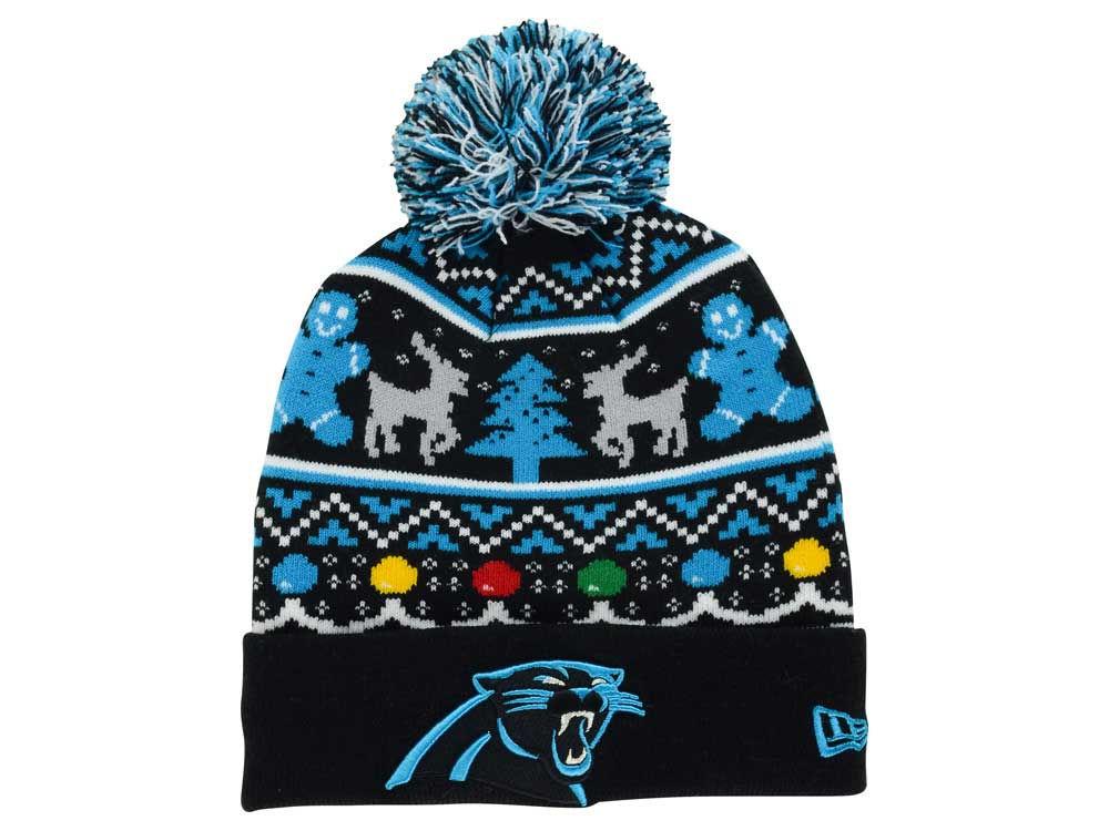 Carolina Panthers New Era Nfl Ugly Sweater Pom Knit Lidscom