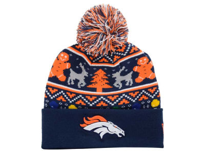 Denver Broncos New Era NFL Ugly Sweater Pom Knit
