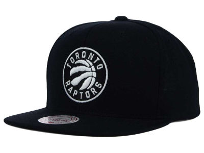 Toronto Raptors Mitchell & Ness NBA Team BW Snapback Hat