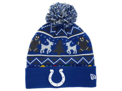 Indianapolis Colts New Era NFL Ugly Sweater Pom Knit