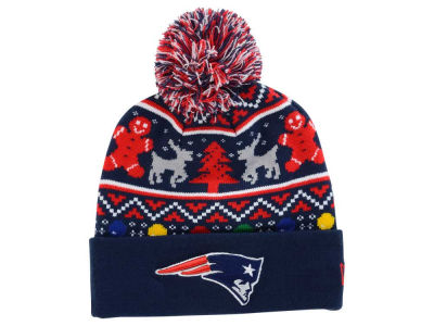 New England Patriots New Era NFL Ugly Sweater Pom Knit