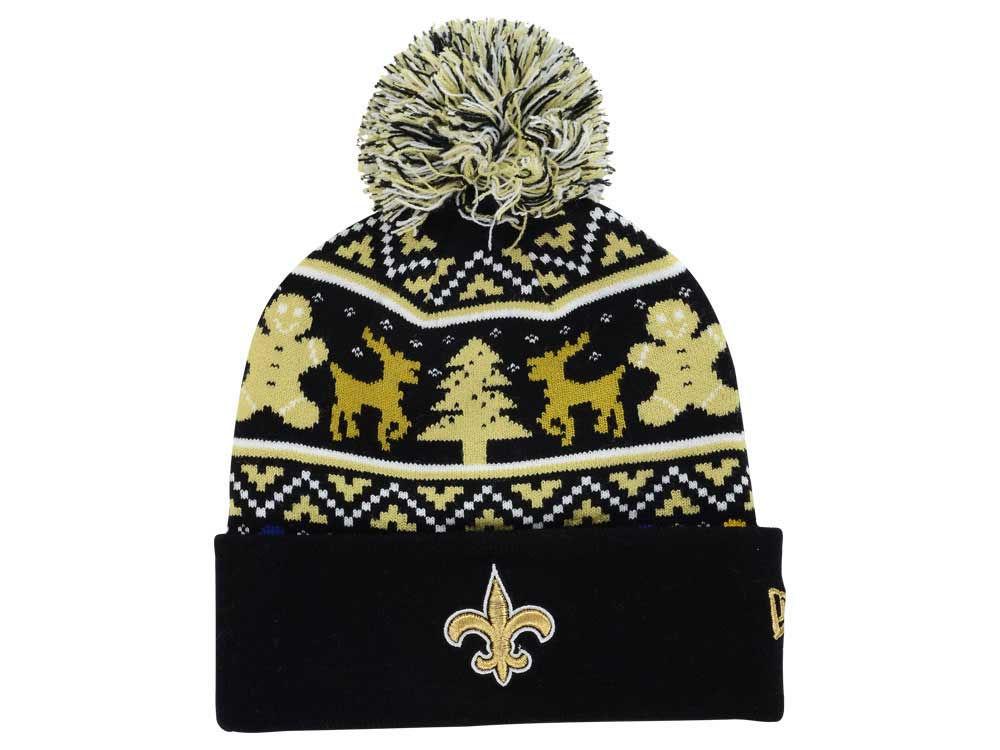 New Orleans Saints New Era Nfl Ugly Sweater Pom Knit Lids