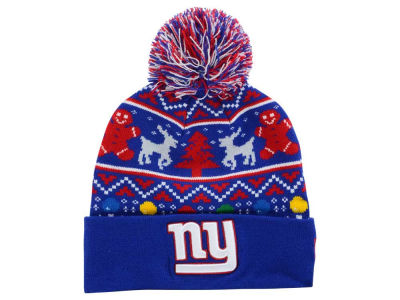 New York Giants New Era NFL Ugly Sweater Pom Knit