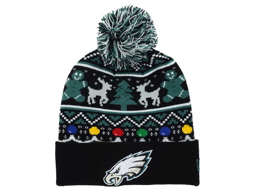 144b6691d Philadelphia Eagles New Era NFL Ugly Sweater Pom Knit