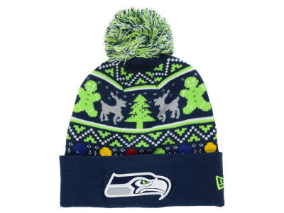 Seattle Seahawks New Era NFL Ugly Sweater Pom Knit