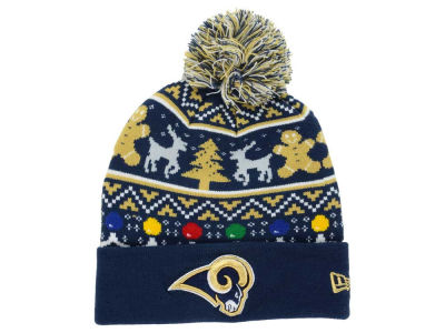 Los Angeles Rams New Era NFL Ugly Sweater Pom Knit