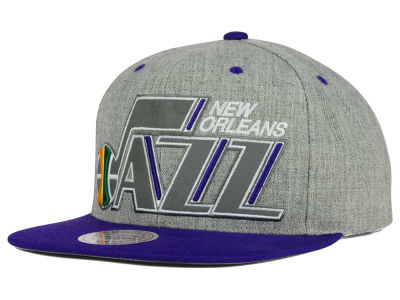 New Orleans Jazz Mitchell and Ness NBA H-Reflective XL Snapback Cap
