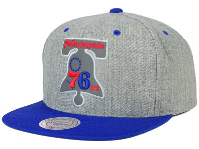 Philadelphia 76ers Mitchell and Ness NBA H-Reflective XL Snapback Cap