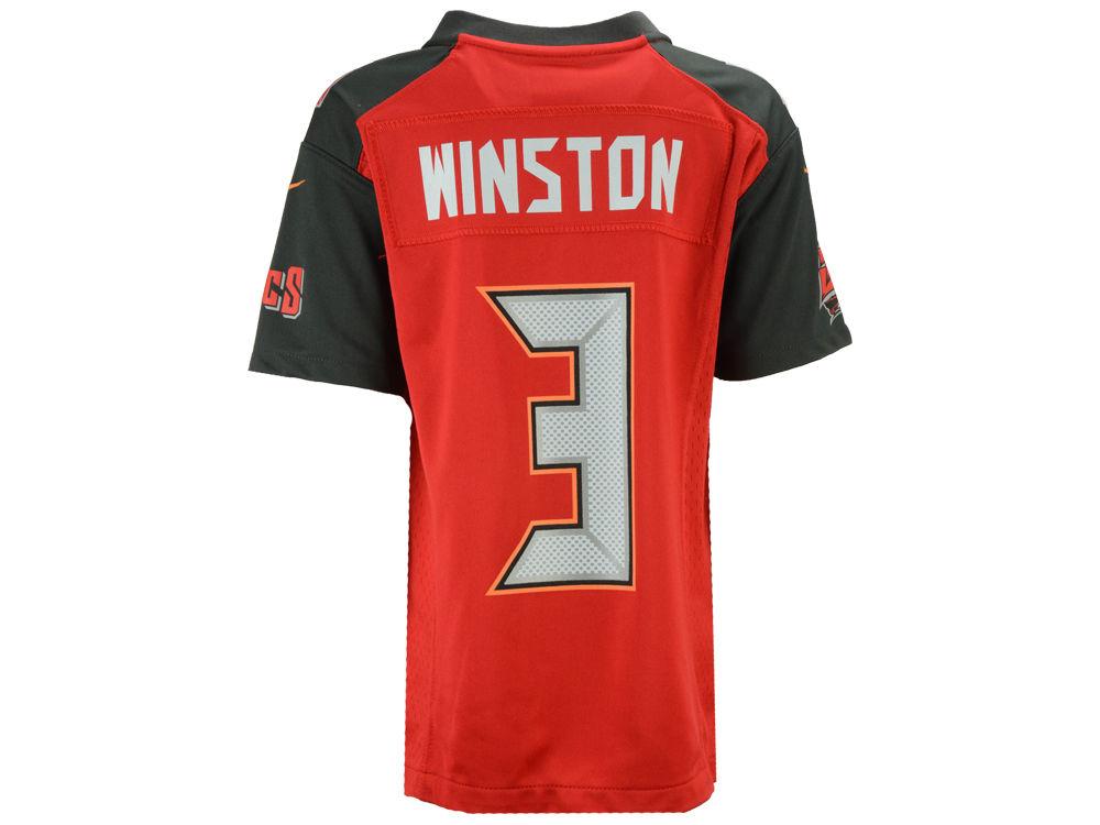 32ddf397bfa Tampa Bay Buccaneers Jameis Winston Nike NFL Youth Game Jersey ...