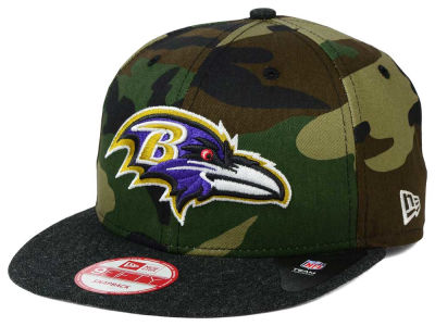 Baltimore Ravens New Era NFL Camo Heather 9FIFTY Snapback Cap