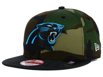 Carolina Panthers New Era NFL Camo Heather 9FIFTY Snapback Cap