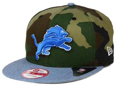 Detroit Lions New Era NFL Camo Heather 9FIFTY Snapback Cap