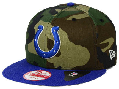 Indianapolis Colts New Era NFL Camo Heather 9FIFTY Snapback Cap